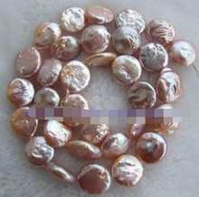 "+++817 Natural 5x11mm Pink Button Fresh Water Pearl Beads 14"" 5pc(China)"