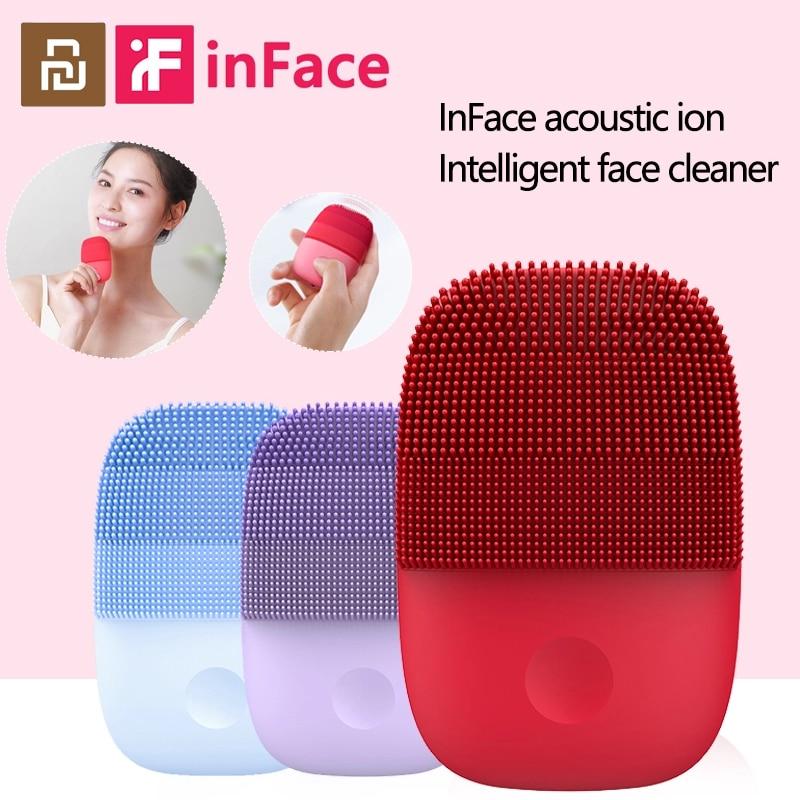 Inface Очищающая щетка для лица, Электрический Очиститель для лица, обновленная версия, силиконовая щетка для лица, Очищающий водонепроницаемый инструмент для очистки|Устройства для чистки лица| | АлиЭкспресс