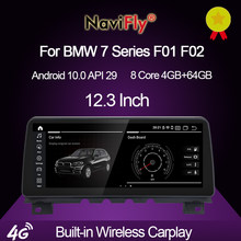 NaviFly-مشغل DVD للسيارة ، 12.3 بوصة ، 10.25 بوصة ، Android 10.0 ، GPS ، لسيارات bmw F01/F02 7 Series ، CIC ، نظام NBT ، 4G 64G ، MSM8953 ، Carplay ، 1920*720 ، DSP