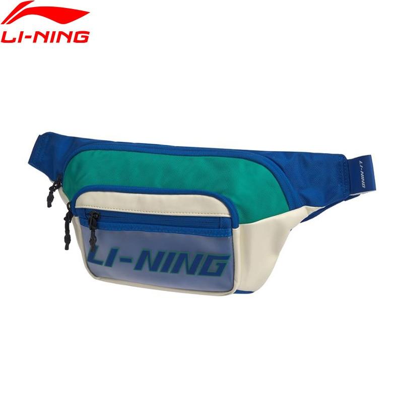 Li-Ning Unisex The Trend Waist Bag 400*40*170mm Capacity 2L LiNing Li Ning Retro Polyester Sports Chest Bags ABLQ014 BBP130