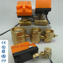 2-Control Automatic-Control-Shut-Off-Valve Brass-Valve Electric-Actuator Motorized Lock