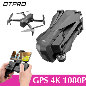 Image 1 - OTPRO Mini Drone WIFI FPV With 4K 1080P Camera 3 Axis Gimbal GPS RC Racing Drone Quadcopter RTF with Transmitter Z5 F11 pro DRON
