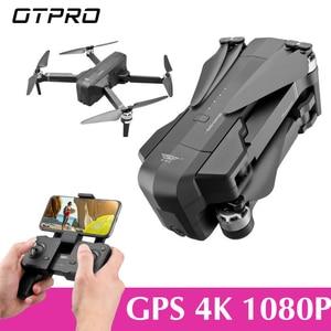 Image 1 - OTPRO صغيرة بدون طيار WIFI FPV مع 4K 1080P كاميرا 3 محور Gimbal GPS RC سباق Drone Quadcopter RTF مع الارسال Z5 F11 برو DRON
