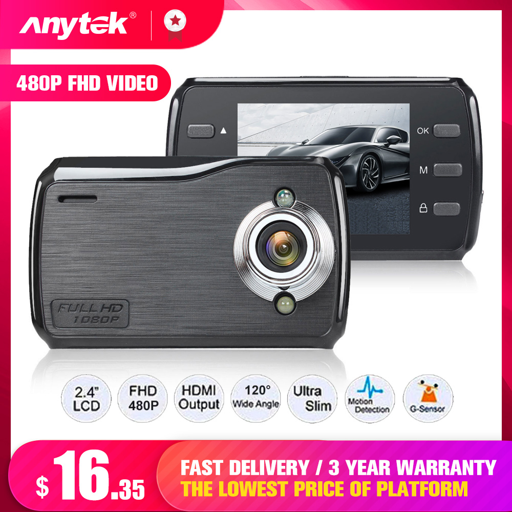 2.4 inch IPS DVR Dash Camera Cam Full HD Video Recorder Registrator Auto Dual Cameras for In Cars Dashcam Vehicle Black DVRs Box