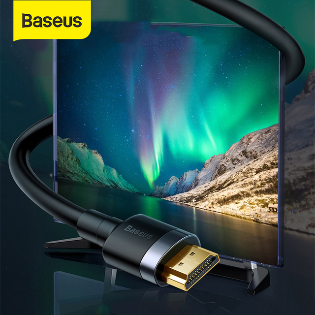 Baseus HDMI Cable 4K HDMI to HDMI 2.0 Cable Cord for PS4 TV Monitor 4K Splitter Switch Box Extender 60Hz Video Cabo Cable HDMI
