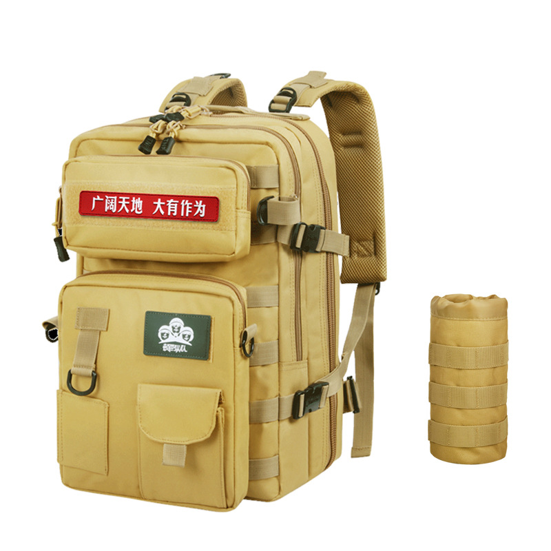 40L Военная Большая Емкость Водонепроницаемая тактическая спортивная сумка рюкзак для путешествий Рыбалка Бег Туризм Moll камуфляж армейский - 2
