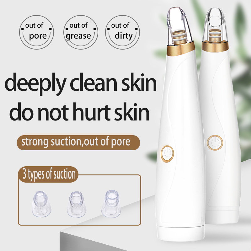 Vacuum Suction Blackhead Remover Nose Facial Pore Cleaner Spot Acne Black Head Pimple Removal Beauty Face Skin Care Tool