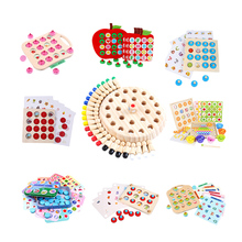 Wooden Memory Chess Game Match Stick Fun Blocks Board Game Educational Toy Montessori Color Cognitive For Children Kids Party
