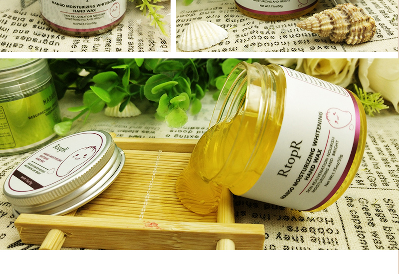 2PCS RtopR Mango Moisturizing Hand Mask Wax Whitening Skin Care Exfoliating Calluses Anti-Aging Treatment Rough Hands Care Mask