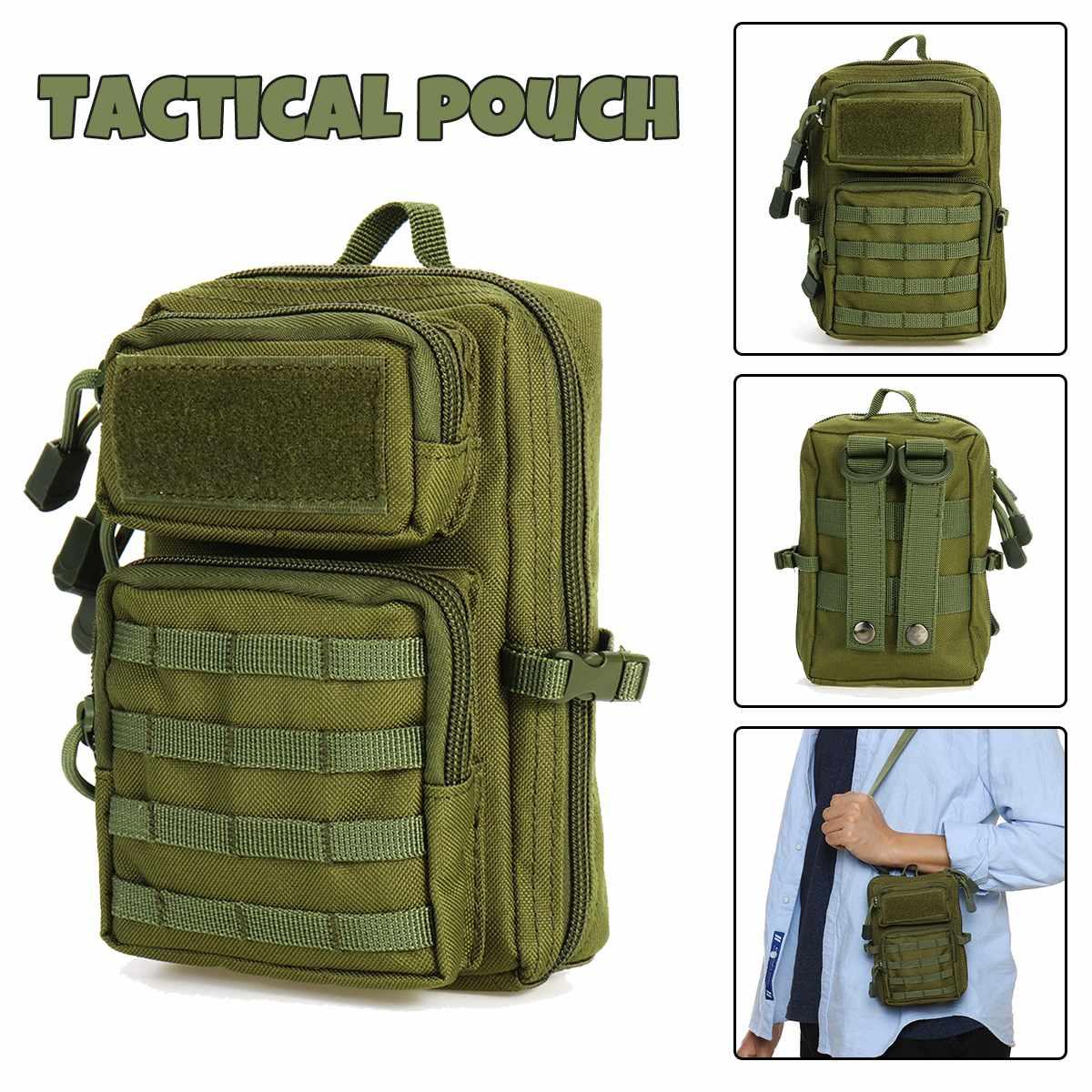Evrensel taktik kılıf çanta kılıfı askeri Molle kalça bel kemeri çanta fermuar cüzdan kılıfı çanta telefon kılıfı kamp yürüyüş çantaları