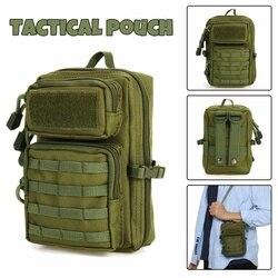 Universal Taktis Kantong Tas Militer Molle Hip Pinggang Sabuk Tas Zipper Dompet Pouch Dompet Ponsel Case Camping Hiking Tas