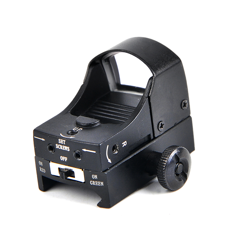 Black Color Reflex Mini Red Dot Sight Collimator Scope Glock Fit 20mm Rail Mount