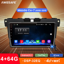 AWESAFE 2 Din CarPlay DSP Android 8,1 auto radio Multimedia reproductor de Video auto estéreo GPS mapa para Mazda Cx-7 cx7 2008-2015 no DVD(China)