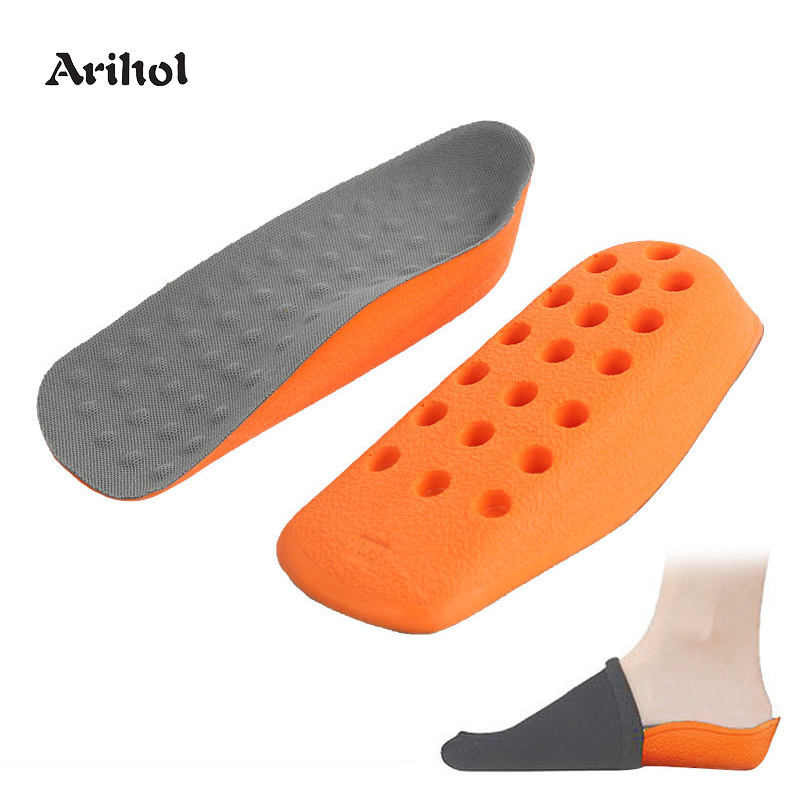 Height Increase Insoles Shoes Pad For Men Women Half Length Arch Support Heel Spur Taller Heel Lift Insert 1.6cm 2.1cm