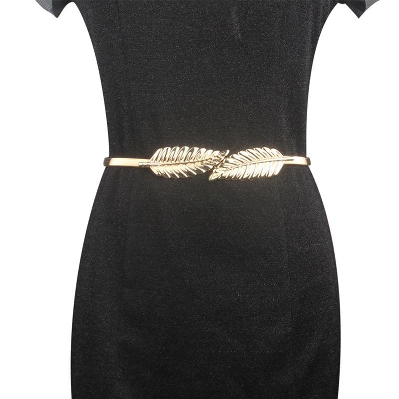 2pcs Waist Chain Alloy Leaves Bridal Belt Wedding Dress Belt Chain Waist Chain Trousers Chain For Trousers Jeans Pants Dress