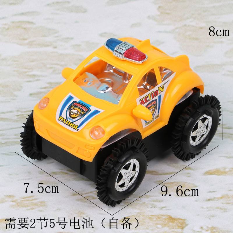 Children Electric Tilting Toy Car Educational Automatic Tilting Stunt Car Police Car CHILDREN'S Toy Supply Of Goods
