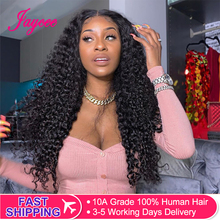 Jaycee Water Wave Human Hair Wigs 150% Density Lace Frontal Wigs For Women Water Wave Lace Front Human Hair Wigs Brazilian Wig