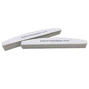 Image 4 - 100 ピース/ロットプロフェッショナルネイルファイル 100/180/240 DIY 洗える木製グリットグレーイルアートマニキュアサンディングツールアート湾曲したムーンファイルセットリマ