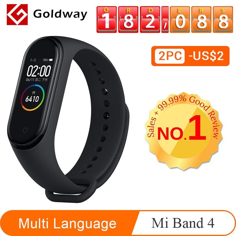 1785.31руб. |Xiaomi mi Band 4 умный браслет 3 цвета AMOLED экран mi band 4 Smartband фитнес тренажер Bluetooth спортивный водонепроницаемый смарт браслет|Смарт-браслеты| |  - AliExpress