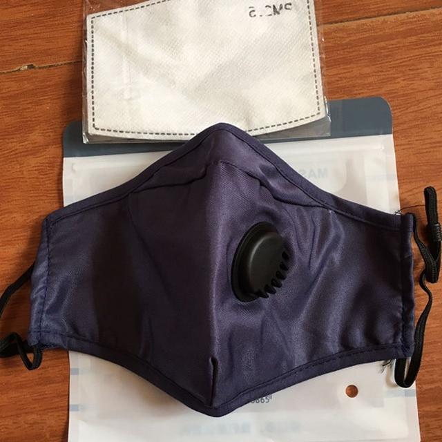 Women Men Facemask Cotton PM2.5 Black Mouth Mask Anti Dust Activated Carbon Filter Bacteria Proof Flu Face Masks Care Gasmask 4