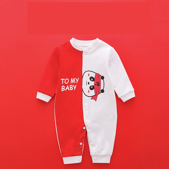 1/2Piece Rompers Newborn Cartoon Bodysuit Cotton Soft Baby Boys Fall Clothes Toddler Girl Cute Jumpsuit 0-2Years Child Clothing - AT20131-panda, 9M