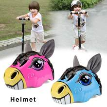 Cartoon Bicycle Helmet For Kids Mtb Road Bike Helmets Kid Skating Animal Helmet Safety Protector For Child Toddler Adult Skating(China)