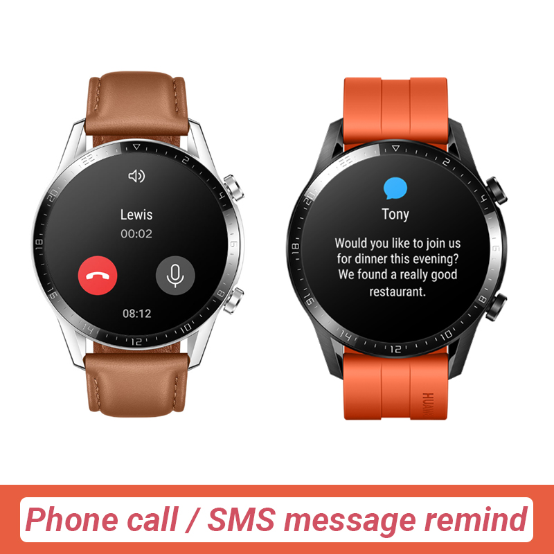 In Stock Original HUAWEI Watch GT 2 GT2 GPS 14 Days Working Phone Smart Call Blood Oxygen  Heart Rate Tracker For Android iOS-3