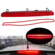 Samochód Auto wysoki poziom dodatkowe światło hamowania lampa Stop dla Volkswagen Multivan T5 2003-2015 7E0945097A z czerwona soczewka lampka ostrzegawcza
