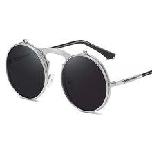 New Brand Designer Classic Round Sunglasses Men Small Vintage 2019 new retro color small ellipse sunglasses fashion designer