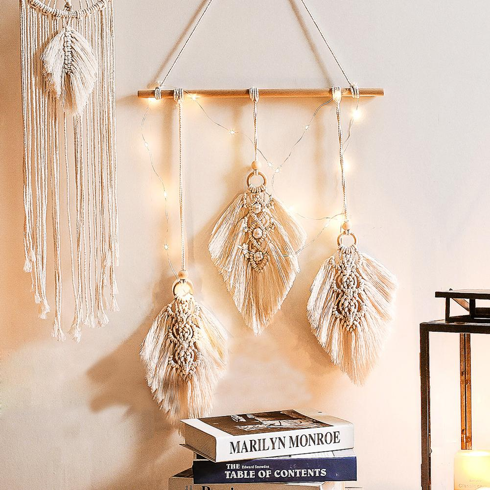 Nordic Tassel Cotton Woven Bohemian Hanging Tapestry Decorative Pendant For Wedding Party Home Bedroom Living Room Decoration