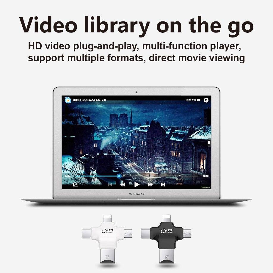 USB i-Flash Drive HD Micro SD/TF Memory Card Reader Adapter For iPhone iPad iPod iphone 5 6 7 type c card readers lighting 4