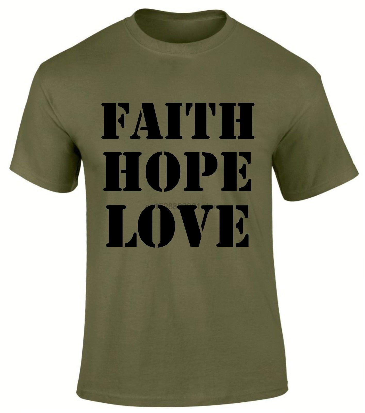 Мужская футболка с надписью вера, надежды, любви в Иисусе, христианской Евангелии, Писания, 2019, модная футболка, 100% хлопок, футболка