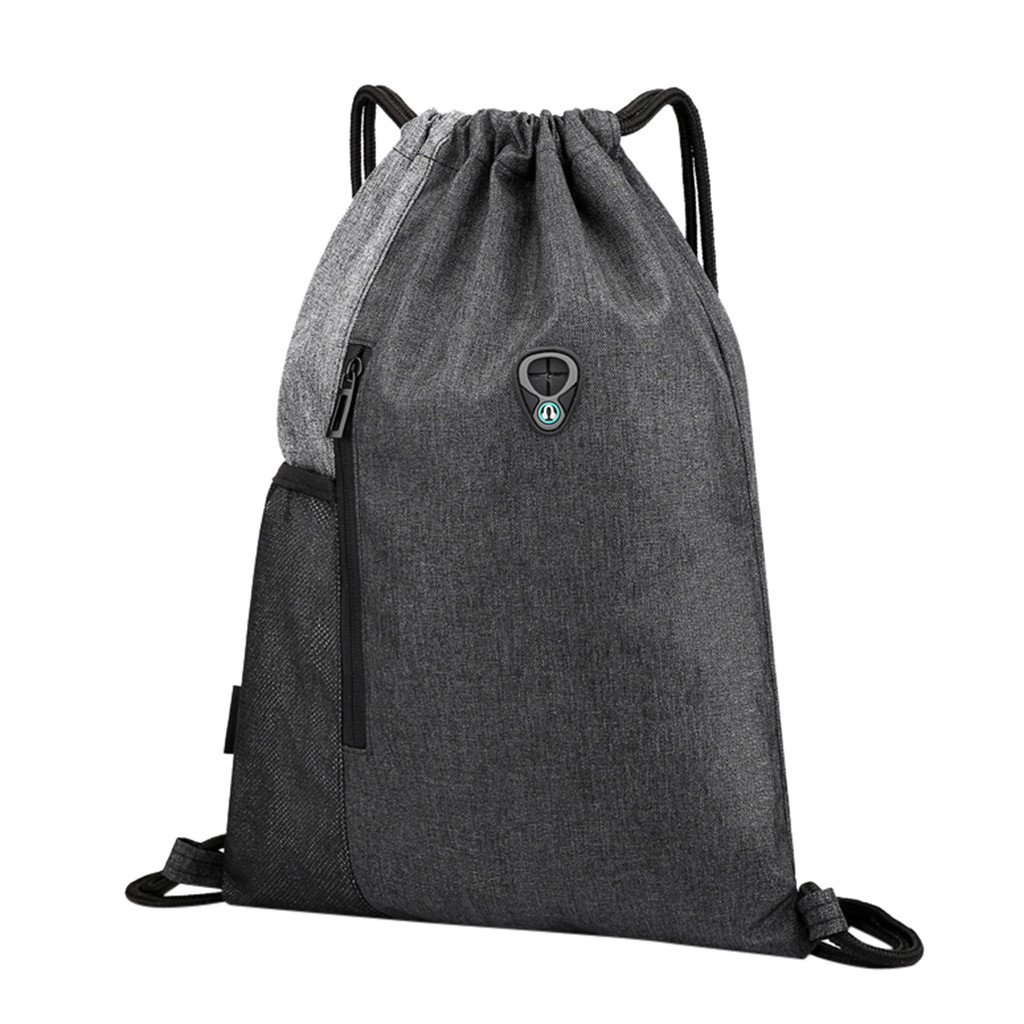 Fashion Casual Unisex Bundle Rope Sport Backpack School Bags Travel Beach Bags Drawstring Pocket Backpack Drawstring Bag New