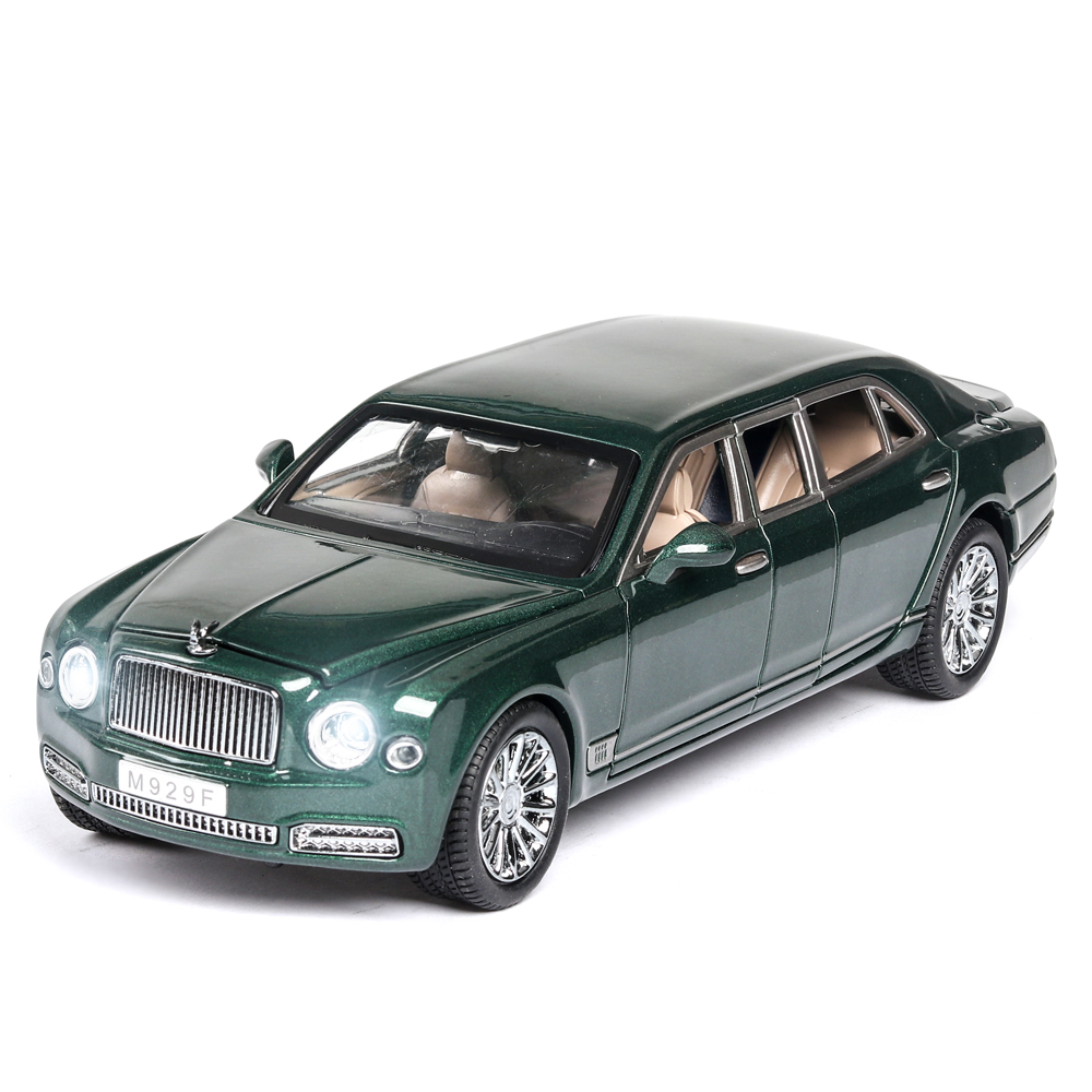 1/24 NEW Bentley Mushang S600 Extended Series Metal Car Model Diecast Alloy High Simulation Car Model 6 Doors Can Opened Car Toy