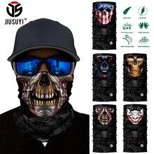 Clown Tube Scarf Headband Half-Face-Cover Gaiter Magic-Bandana Skull 3D Neck Joker Seamless