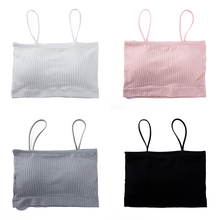 Thin shoulder strap threaded word wrapped chest pad anti-lighting bottoming underwear sports bra female