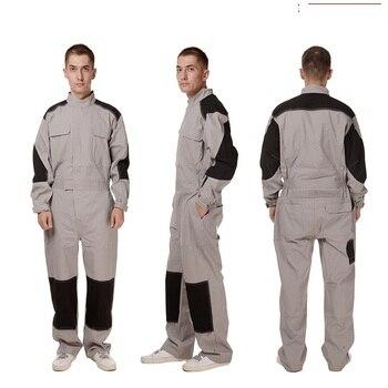 100% Cotton men overalls wear Resistant workshop anti-static Siamese jumpsuit Dust proof mechanical auto car repairmen coveralls