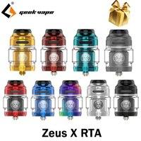 Geekvape-tanque de cigarrillo electrónico Zeus X RTA, atomizador de 4,5 ml de capacidad, compatible con bobina única/Dual y Flujo de aire superior VS Zeus RTA, Original