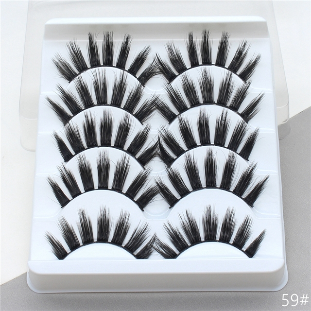 5Pairs 3D Mink Hair False Eyelashes Extension Natural Thick Long Fake Eye Lashes Wispy Women Makeup Beauty Tools 3
