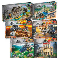 2019 neue Jurassic Welt Dinosaurier Tyrannosaurus Rex T. Rex Transport Triceratop Legoinglys Baustein Ziegel Spielzeug Für Kinder