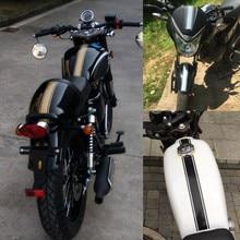 Carénage de réservoir pour moto, autocollant en vinyle à rayures fines, pour café Racer, 50x4.5 cm, 28GC