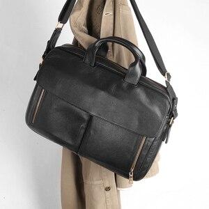 Image 3 - コブラー伝説男性ブリーフケースビジネスオフィスバッグ本革ショルダーバッグメッセンジャーバッグ 14 インチのラップトップバッグ 2019