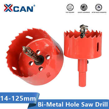 цена на XCAN Hole Saw Drill 14-125mm Bi-metal Core Drill Bit for Woodworking Hole Drilling Cutter Wood Drill