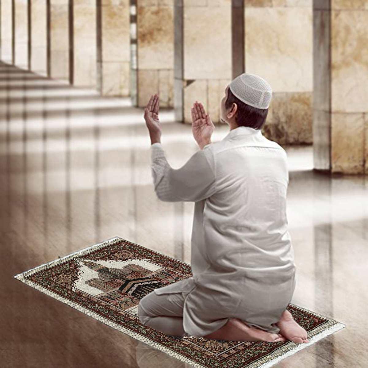 Islamic Muslim Prayer Rug Carpet Mat Polyester Tassel Tablecloth Cover Yoga Mat Blanket Decoration 70x110cm
