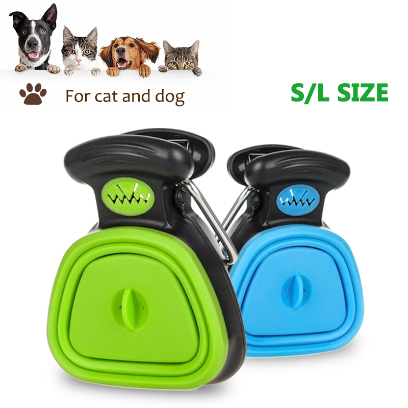 Pet Waste Picker Dog Poop Scooper with bags Foldable Travel Outdoor Portable Big Capacity Dog Poop Cleaner pet Dog Supplies