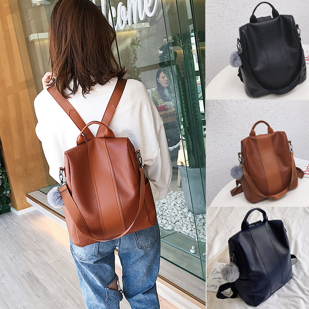 Outdoor Backpack Simple Zipper Solid Color Contrast Color Elegant Ladies Original Backpack Exquisite Girls Fashion Travel Bag#G2