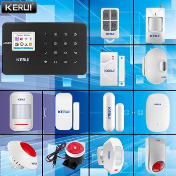 KERUI System alarmowy w domu bezprzewodowy GSM połączeń 433MHZ częstotliwość bezprzewodowa czujnik drzwi czujnik na podczerwień inteligentny System alarmowy dla domu System alarmowy w domu tanie i dobre opinie KERUI G18 CN (pochodzenie) Czujnik do drzwi okna DC 5V PSTN Sterowanie aplikacją 159*100*13mm wireless Black Home Security Protection Alarm System