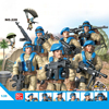 Modern military army United Nations Peacekeeping forces action figures building bricks ww2  weapons mega blocks toys for gifts