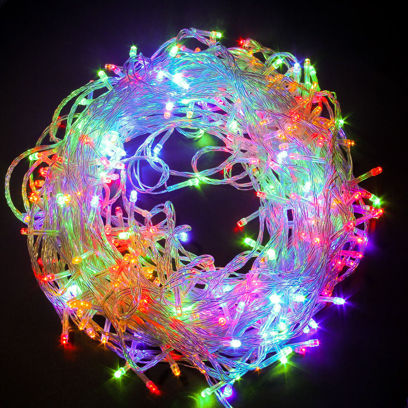 LED String Lights Garland Fairy Light 10m 30m 50m 100m Wedding Christmas Tree Lamp Decoration Outdoor Indoor Bars Party