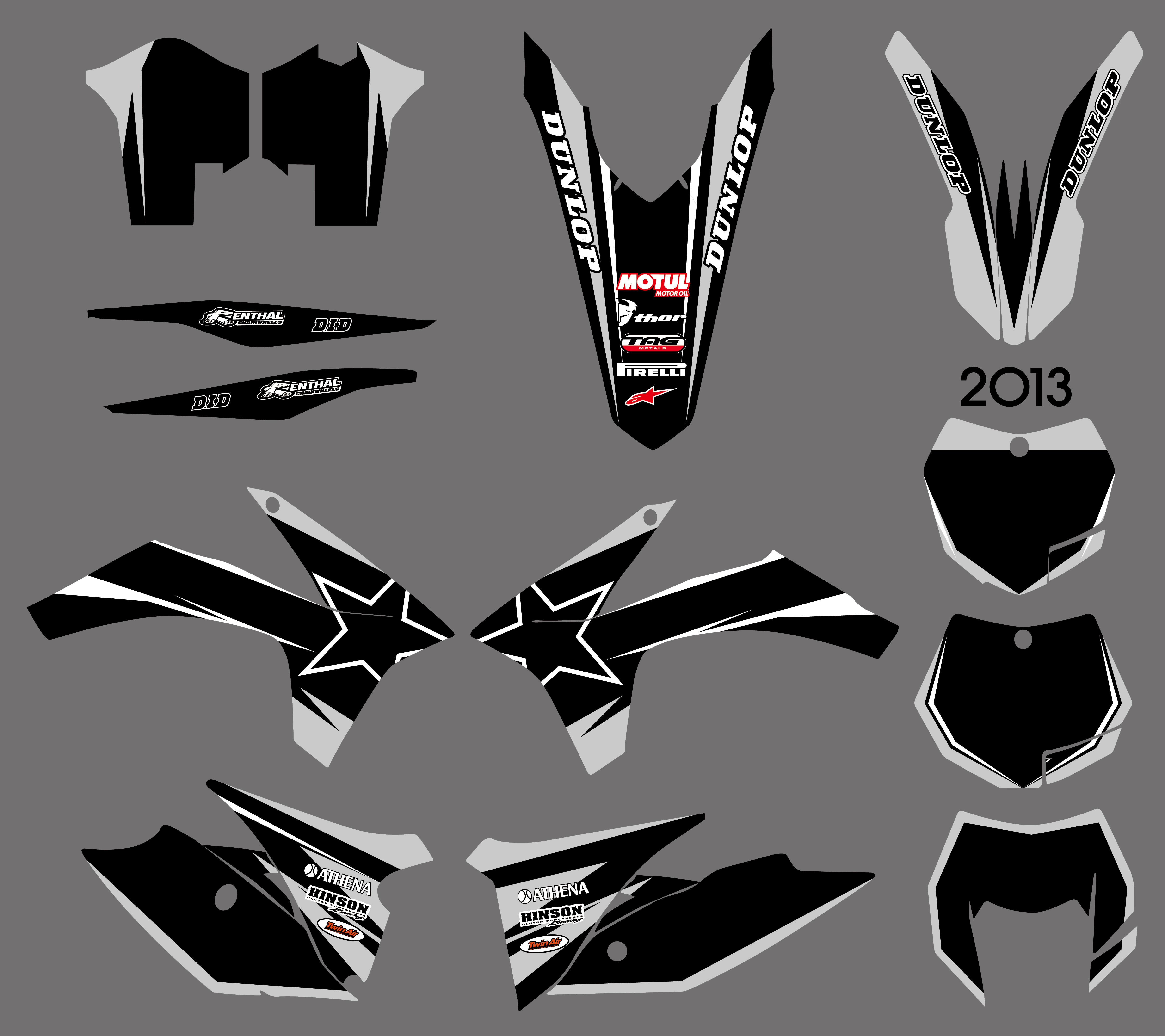 Motorcycle New Style Team Graphics Background Decal Sticker Kit For <font><b>KTM</b></font> <font><b>EXC</b></font> 125 200 250 300 350 450 <font><b>500</b></font> <font><b>2012</b></font> 2013 XC 2011 image